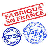 Fabrique En France Rubber Stamps Stock Image