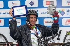 Fabrizio Bove, le bici della corridore-mano della corsa Fotografia Stock Libera da Diritti