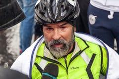 Fabrizio Caselli, vincitore del handbike della corsa Immagine Stock
