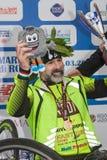 Fabrizio Caselli, vincitore del handbike della corsa, durante la a Immagini Stock
