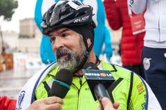 Fabrizio Caselli, zwycięzca biegowy handbike Zdjęcia Royalty Free