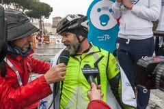 Fabrizio Caselli zwycięzca biegowy handbike Obraz Royalty Free