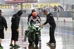 Fabrizio Lai #32 στη συναγωνιμένος ομάδα Superbike WSBK Kawasaki zx-10R Kawasaki Στοκ Εικόνες