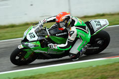 Fabrizio Lai #32 on Kawasaki ZX-10R Kawasaki Racing Team Superbike WSBK Royalty Free Stock Image