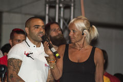 Fabrizio miccoli and silvia famularo Royalty Free Stock Photography