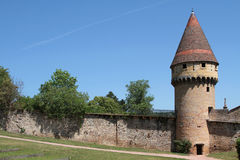 Fabry tower and the ramparts Stock Image