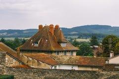 Fabry-Turm in Cluny, Burgunder, Frankreich Lizenzfreies Stockfoto