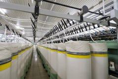 Fabryczna bawełniana przędzalniana maszyna Obraz Royalty Free