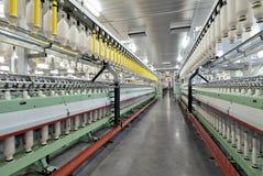 Fabryczna bawełniana przędzalniana maszyna Zdjęcia Stock
