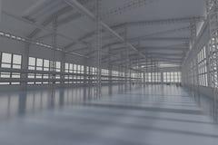 Fabryczna budowa 3d odpłaca się obrazy stock