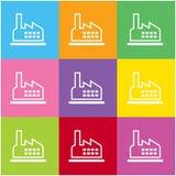 Fabryczna ikona dla sieci i wiszącej ozdoby Fotografia Stock