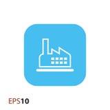 Fabryczna ikona dla sieci i wiszącej ozdoby Obraz Stock