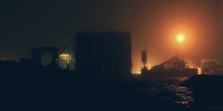 fabryczna noc Zdjęcia Stock