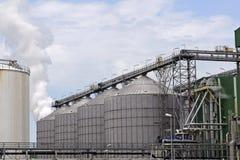 fabryczna rafineria ropy naftowej Fotografia Royalty Free