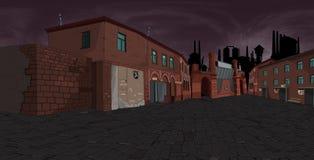 Fabryczna ulica Zdjęcie Stock
