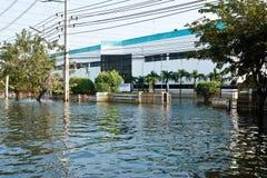 fabrycznej powodzi przemysłowy nakorn Nava Thailand Zdjęcia Royalty Free