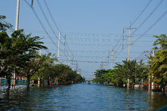 fabrycznej powodzi przemysłowy nakorn Nava Thailand Obraz Royalty Free