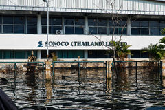 fabrycznej powodzi przemysłowy nakorn Nava Thailand Fotografia Royalty Free