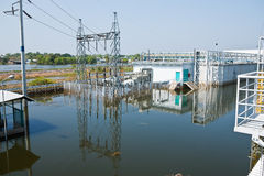fabrycznej powodzi przemysłowy nakorn Nava Thailand Obrazy Royalty Free