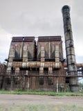 Fabryczni budynki Wielcy metali projekty przemysłowy, wielki, metal Zdjęcie Royalty Free