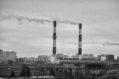 fabryczni miast abstrakcjonistyczni pojęcia Obrazy Stock