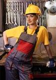 fabryczny żeński pracownik Zdjęcie Royalty Free