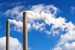 Fabryczny komin Zdjęcie Royalty Free