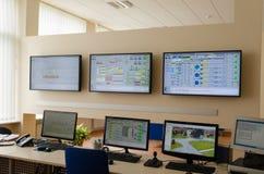 Fabryczny kontrolny pokój Zdjęcie Royalty Free