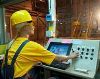fabryczny operator Obrazy Stock