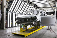 Fabryczny samochodowy obraz Zdjęcia Stock