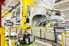 Fabryczny samochodowy obraz fotografia stock