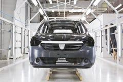Fabryczny samochodowy obraz zdjęcia royalty free