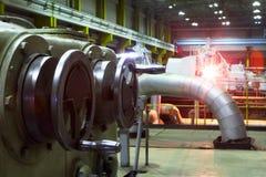 Fabryczny wyposażenie generatory stacja elektryczna Obrazy Royalty Free