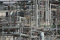 Fabryk chemikaliów drymby zdjęcie stock