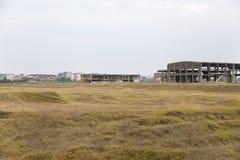 Fabryk ruiny przy krawędzią Calarasi miasto, Zdjęcia Royalty Free