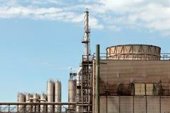 fabryka chemiczny olej Fotografia Royalty Free