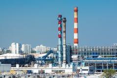 fabryka chemiczny olej Obrazy Stock