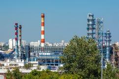 fabryka chemiczny olej Obraz Stock
