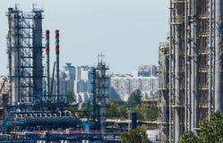 fabryka chemiczny olej Fotografia Stock