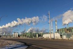 fabryka chemiczny olej Zdjęcia Royalty Free