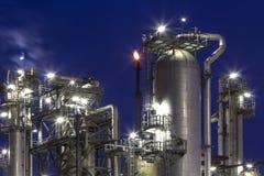 Fabryka chemikaliów i księżyc Zdjęcia Royalty Free