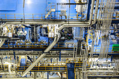 Fabryka chemikaliów noc scena Zdjęcia Stock