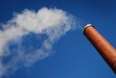 fabryka kominowy dym Obraz Royalty Free