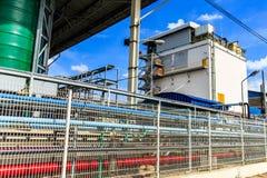 Fabryka płotowy przemysłowy środek Zdjęcia Royalty Free