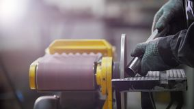 fabryka przemysłowej Szlifierska maszyna  zbiory wideo