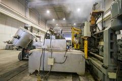Fabryka sklep dla metalu wytapiania Zdjęcie Royalty Free