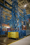 fabryka w produkcji kosmicznej obrazy royalty free