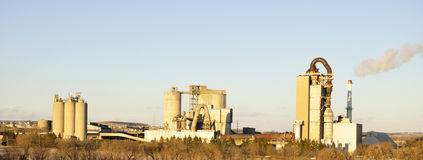 fabryki cementowa panorama Fotografia Stock