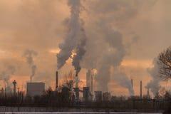 Fabryki dymny zanieczyszczenie zdjęcia royalty free