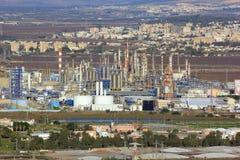 Fabryki w Haifa zatoce, Izrael Obrazy Royalty Free